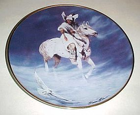 Spirit of the Winter Hawk collector plate Hermon Adams