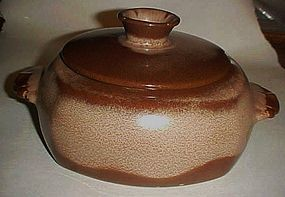 Frankoma Plainsman brown 1 1/2 qt covered caserole