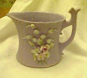 Lefton lavender bisque creamer applied florals Harro's