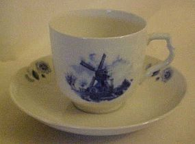 Delft Blauw windmill Cup & Saucer - Ter Steege BV
