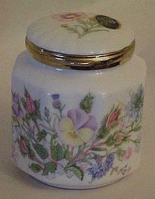 Anysley Wild Tudor floral  hinged porcelain trinket box
