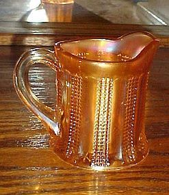 Old diamond point and columns marigold carnival creamer