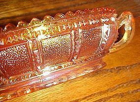 Imperial Beaded Block marigold carnival  pickle dish