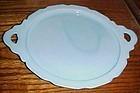 Jeanette Cherry Blossom blue delphite round platter