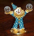 Spoontiques clown figurine with crystal balls  #447