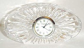 Vintage Waterford Crystal  desk clock  marked Waterford
