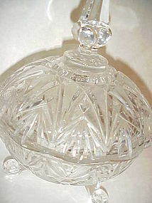 Vintage Imperlux Amphora German crystal covered  dish