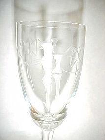 Noritake Sasaki crystal Bamboo pattern  Sherry glass