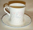 Corning  Corelle Pink trio pattern mug and saucer