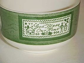 Royal Colonial Homestead cup green with cameo