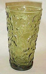 "Anchor Hocking Milano Lido green glass tumbler 5 1/2"""