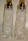 Vintage Imperlux Amphora pattern crystal shakers