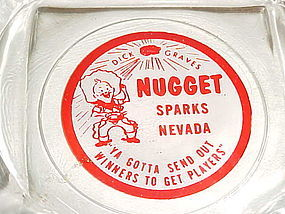 Vintage Dick Graves Nugget Sparks Nevada casino ashtray