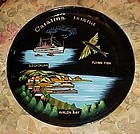 Vintage Catalina Island lacquer souvenir plate tray