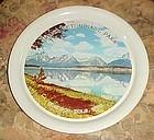 Vintage alum Grand Teton National Park souvenir tray