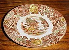 Nasco Mountain Woodland  10.5 dinner plate transferware