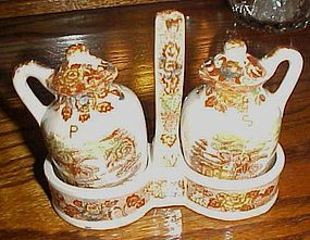 Nasco mountain woodland salt pepper shakers and caddy