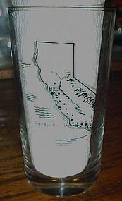 Vintage California Santa Barbara Mission souvenir glass