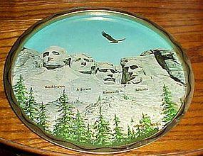 Vintage Mt Rushmore metal souvenir tray South Dakota