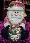 Santa Claus with bag of toys Christmas cookie jar