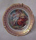 Miniature Limoges France plate with stand