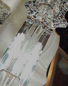 Vintage  Westmoreland floral cut crystal candle holders