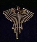 JJ Jonette gold tone soaring bird eagle pin 1988