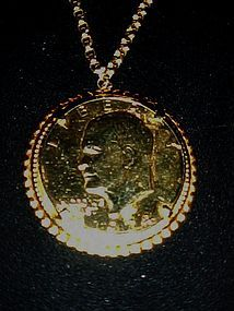 1974 Gold plated Eisenhower Dollar pendant