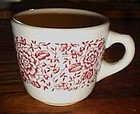 Iroquois restaurant cup pattern 49 red floral band