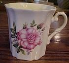 Royal Grafton bone china coffee mug wild pink rose