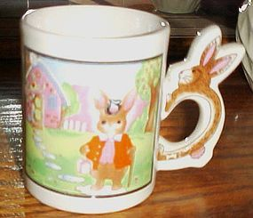 Peter Rabbit scenic mug with bunny rabbit handle
