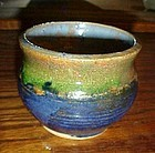 Richard Rowens handmade pottery vase signed