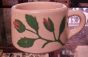 Old pink TEPCO china mug with rosebud  RARE 1940's