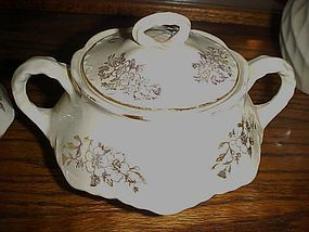 Vintage Homer Laughlin creamer and sugar Hudson GH1500