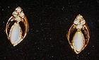 Vintage Avon Opalesque Splendor clip earrings in box