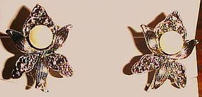 Avon Romantic Blossom Clip on earrings new in box 1992