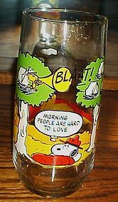 Camp Snoopy Morning people are hard to love Glass