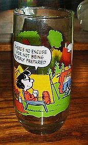 Camp Snoopy glass  No excuse for not being prepared