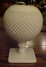 Westmoreland English hobnail milk glass footed ivy vase