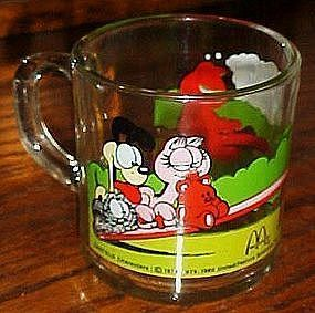 McDonalds Garfield cartoon cup mug teeter totter