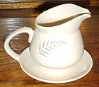 Vintage Francisan Fern Dell gravy boat with underplate