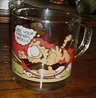 McDonalds Garfield glass  mug use your friends wisely