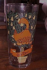 Pepsi Brockway 6th Day of Christmas drinking glass
