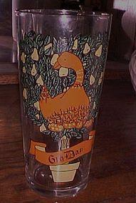 Pepsi Brockway 6th Day of Christmas drinking glass