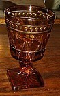 Indiana Park Lane amber 4.5 wine glass 4 oz