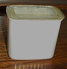 Hazel Atlas ribbed milk glass refrigerator jar with lid