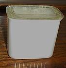 Hazel Atlas ribbed milk glass refrigerator jar with lid
