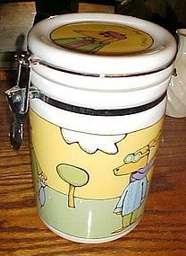 Signature Adventure Dog treats jar by Ursula Dodge