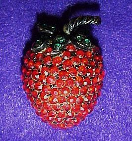 Weiss strawberry pin / brooch