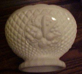 Westmoreland milk glass fruit bowl diamond with fruit